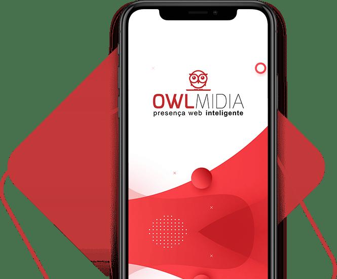 smartphone owl midia agencia digital criacao de sites em jaragua do sul - OWL Mídia